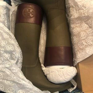 Tory Burch Rainboots - Never Been Worn - Size 10